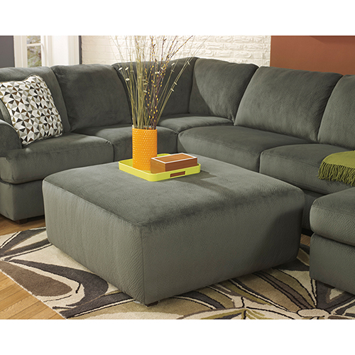 Jessa Place Oversized Ottoman in Pewter