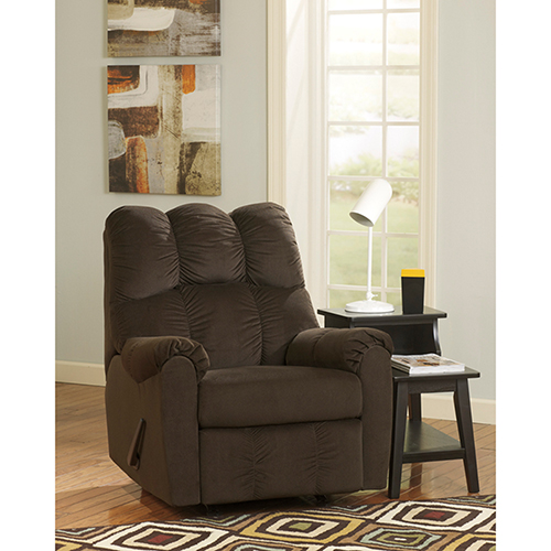 Raulo Rocker Recliner in Chocolate