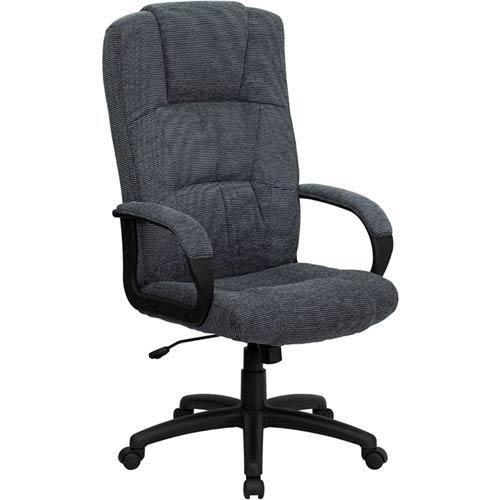 High Back Gray Fabric Executive Swivel Office Chair