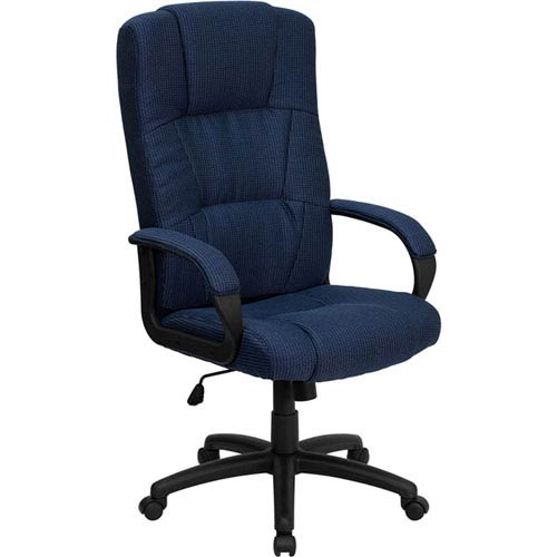 Parkside High Back Navy Blue Fabric Executive Swivel Office Chair