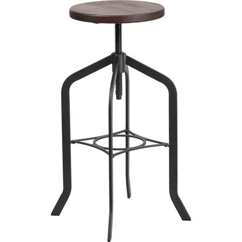 Parkside 30 In. Barstool with Swivel Lift Wood Seat