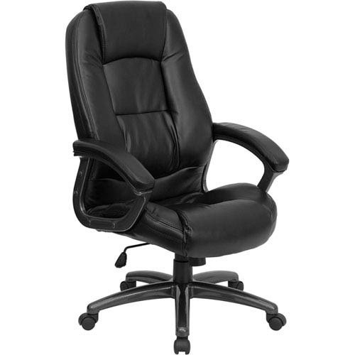 Parkside High Back Black Leather Executive Swivel Office Chair
