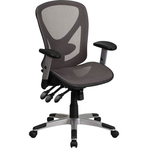 Gray Mesh Executive Swivel Office Chair