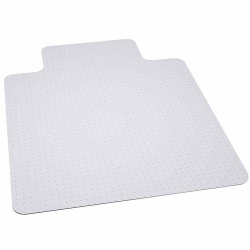 Parkside 45x53 Big and Tall 400 lb. Capacity Carpet Chair Mat with Lip