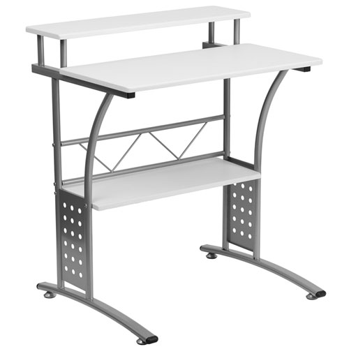 Parkside Clifton White Computer Desk