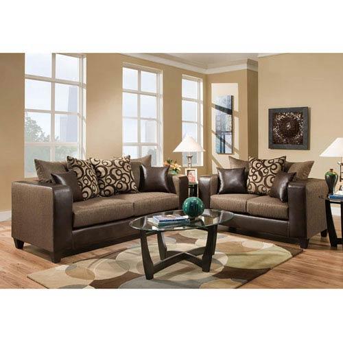 Parkside Kelly Espresso Chenille Living Room Set
