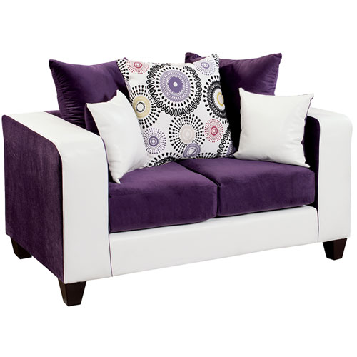 Lauren Series Purple Velvet Loveseat