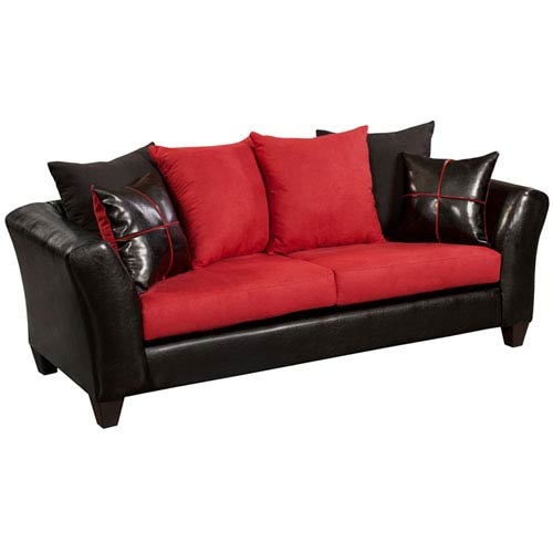 Parkside Cardinal Microfiber Sofa