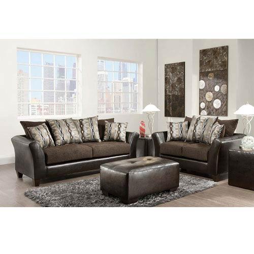 Parkside Rip Sable Chenille Living Room Set