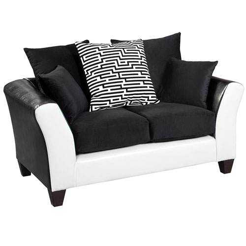 Lauren Series Black Velvet Loveseat