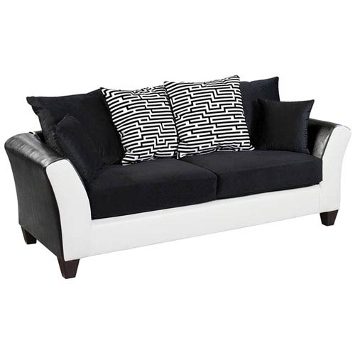 Lauren Series Black Velvet Sofa