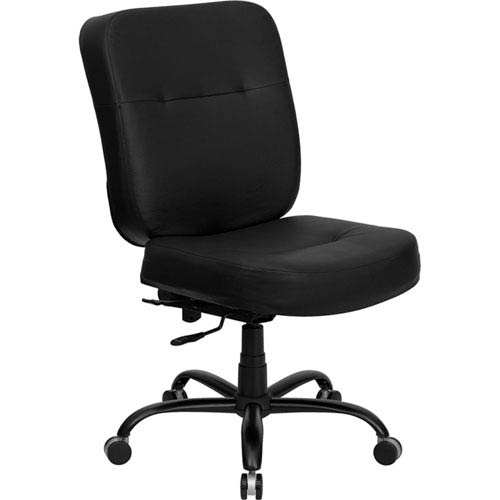 Series 400 lb. Capacity Big and Tall Black Leather Executive Swivel Office Chair with Extra WIDE Seat