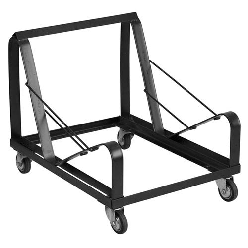 Series Black Steel Sled Base Stack Chair Dolly