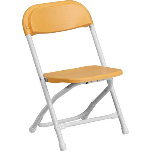 Parkside Kids Yellow Plastic Folding Chair