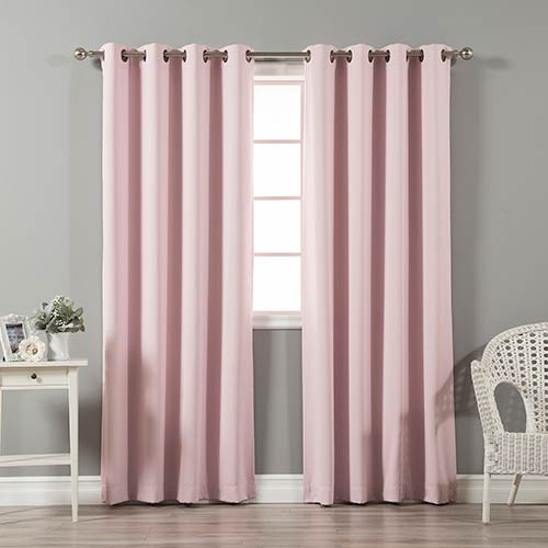 Light Pink 120 x 52 In. In. Thermal Insulated Blackout Curtain Panel