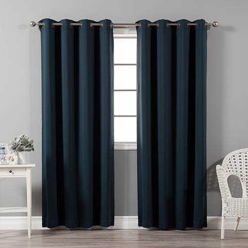 Rose Street Navy 120 x 52 In. In. Thermal Insulated Blackout Curtain Panel