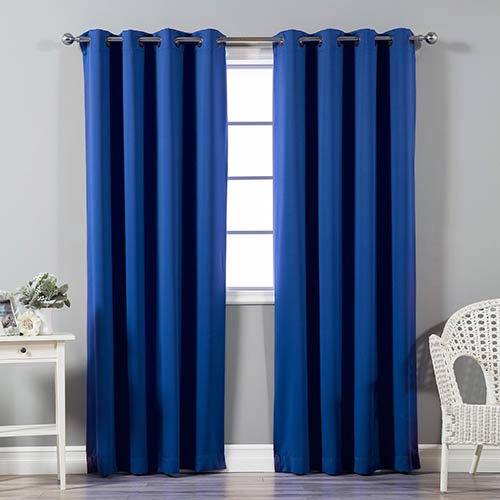 Royal Blue 120 x 52 In. In. Thermal Insulated Blackout Curtain Panel