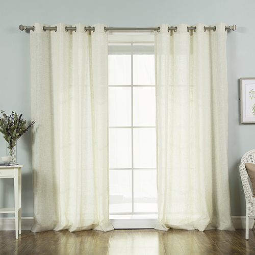 Rose Street Flax Faux Linen 84 x 52 In. Curtain Panel