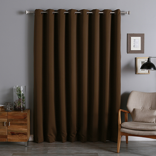 Chocolate 100 x 108 In. Wide With Thermal Blackout Curtain Panel