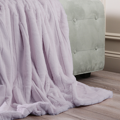 Luxe Faux Lavender Mink Throw