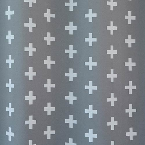 Grey Plus Print 108 x 52 In. Room Darkening Curtain Panel