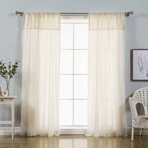 Rose Street Beige 84 x 52 In. Linen Sheer Curtain Panel