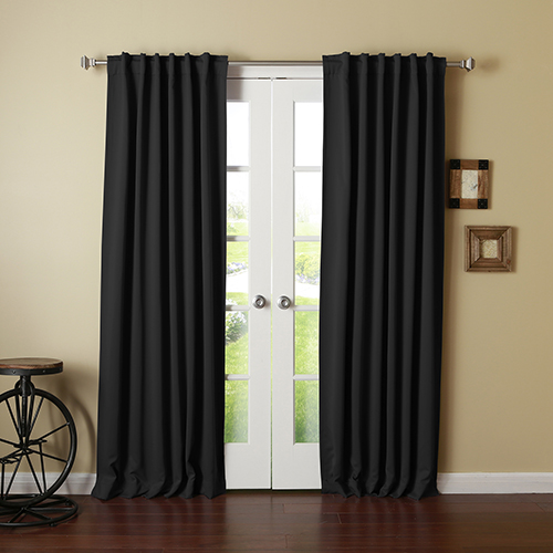 Black 126 x 52 In. Curtain Panel