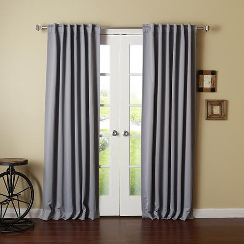 Grey 132 x 52 In. Curtain Panel