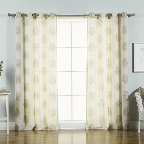 Taupe Medallion 96 x 52 In. Curtain Panel