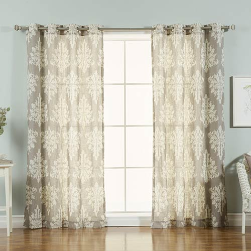 Grey Linen 96 x 52 In. Curtain Panel