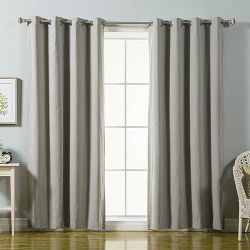 Rose Street Grey 84 x 52 In. Cotton Blend Blackout Curtain Panel