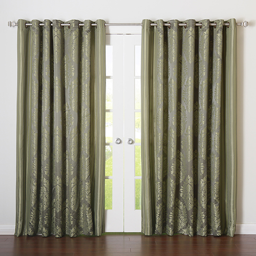 Rose Street Lime Damask 90 x 84 In. Curtain Panel