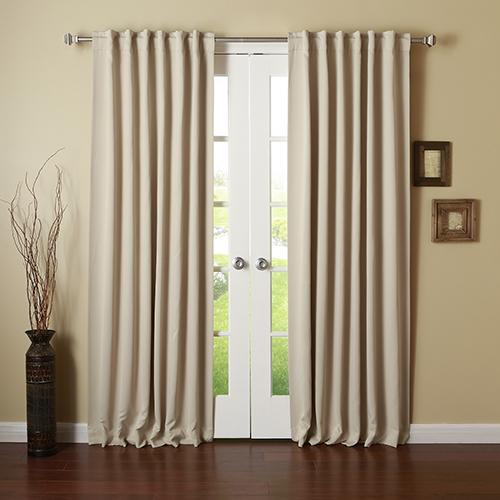 Beige 120 x 52 In. Curtain Panel