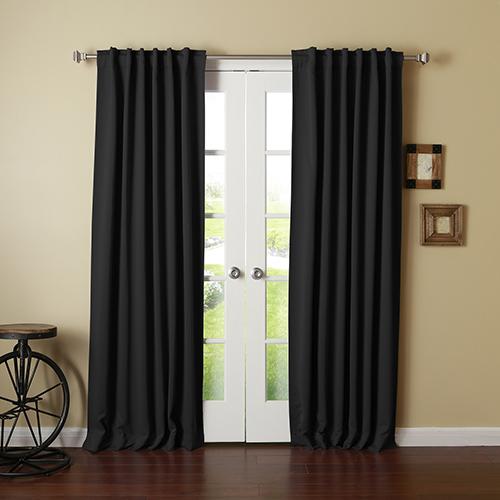 Black 52 x 84 Curtain Panel