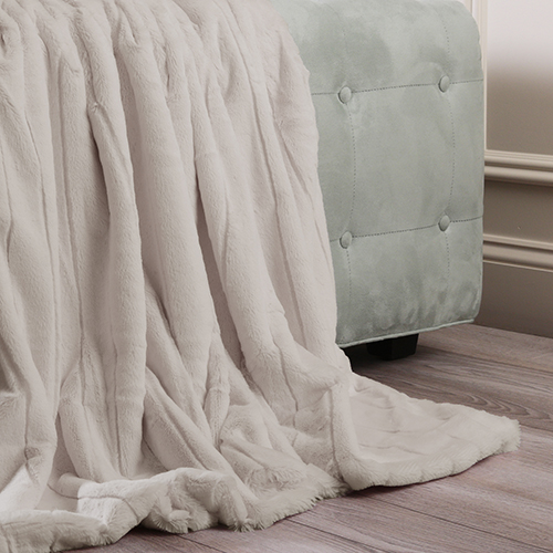 Rose Street Luxe Faux Taupe Mink Throw