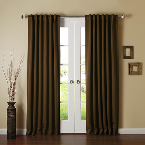 Chocolate 102 x 52 In. Curtain Panel