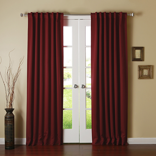 Rose Street Burgundy 108 x 52 In. Curtain Panel