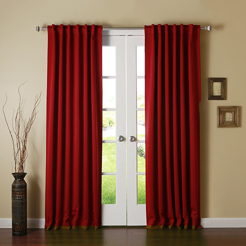 Cardinal Red 108 x 52 In. Curtain Panel