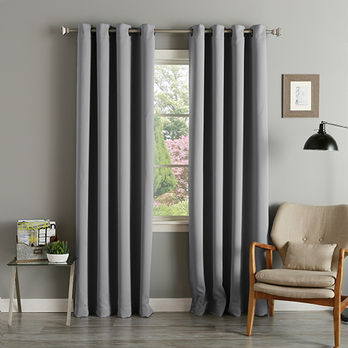 Rose Street Grey 52 x 84 In. Thermal Insulated Blackout Curtain Panel