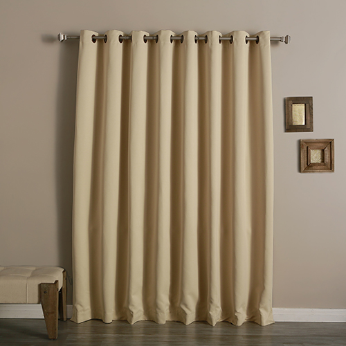 rose street beige 100 x 84 in wide with thermal blackout curtain panel grom wide 100x84 beige. Black Bedroom Furniture Sets. Home Design Ideas