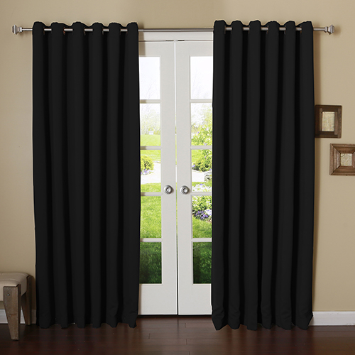 Rose Street Black 100 x 84 In. Wide With Thermal Blackout Curtain Panel