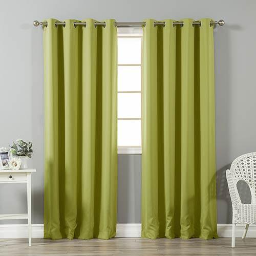 Rose Street Sage Shiny 52 x 84 In. Room Darkening Curtain Panel