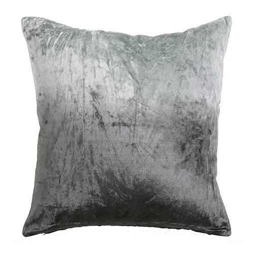 Ombre Grey Velvet 18 In. Pillow Cover