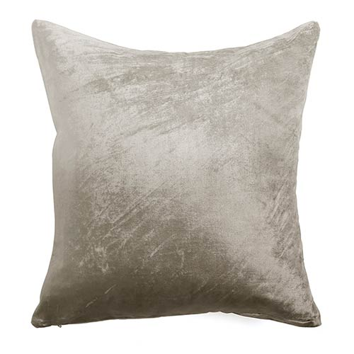 Ombre Taupe Velvet 18 In. Pillow Cover
