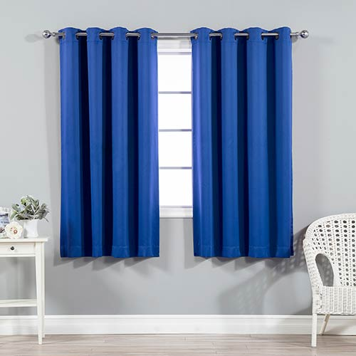 Rose Street Royal Blue 52 x 63 In. Thermal Insulated Blackout Curtain Panel