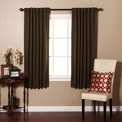 Chocolate 52 x 72 Curtain Panel