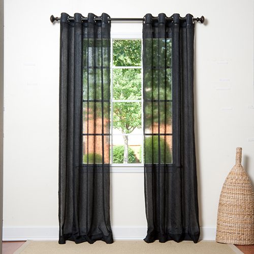Black 52 x 96 In. Thermal Insulated Blackout Curtain Panel