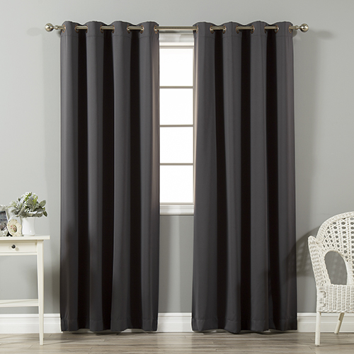 Rose Street Dark Grey 96 x 52 In. Thermal Insulated Blackout Curtain Panel