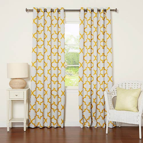 Rose Street Yellow Moroccan 84 x 52 In. Room Darkening Curtain Panel
