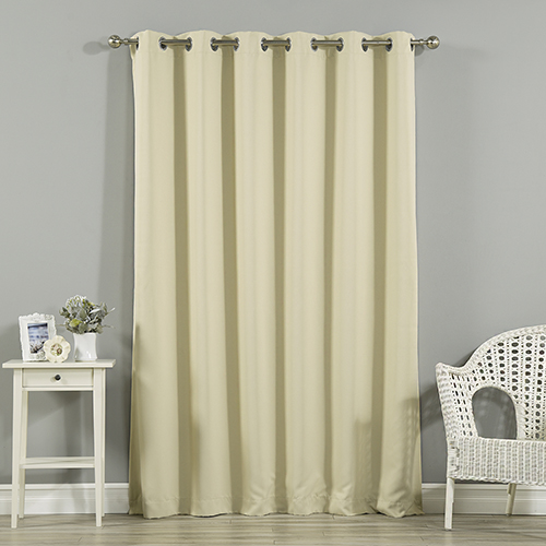 Beige 80 x 96 In. Wide Width Blackout Curtain Panel